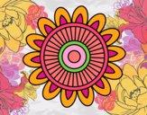 Desenho Mandala solar pintado por Annefelipe