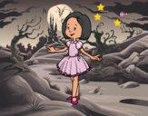 Menina com vestido de princesa