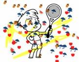 Menino com raquete