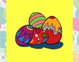 Desenho Ovos de páscoa pintado por shirloka