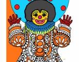 Desenho Palhaço disfarçado pintado por marios