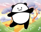 Desenho Panda bailarino pintado por BelMorim