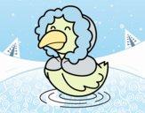 Desenho Pato em inverno pintado por BelMorim