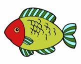 Desenho Peixe para comer pintado por luzinda