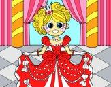 Desenho Princesa no baile pintado por marilurdes