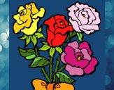 Desenho Ramo de rosas pintado por shirloka