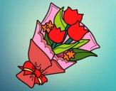 Desenho Ramo de Tulipa pintado por marilurdes