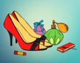 Desenho Sapatos e maquiagem pintado por marilurdes