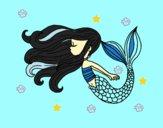 Desenho Sereia flutuante pintado por paloma-03