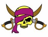 Desenho Símbolo pirata pintado por padinho