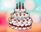Desenho Torta de Aniversário pintado por marilurdes