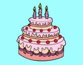 Desenho Torta de Aniversário pintado por shirloka
