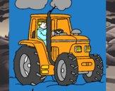 Tractor em funcionamento