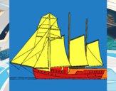 Veleiro de três mastros