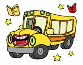 Desenho Ônibus animado pintado por Mirely