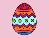 Desenho Ovo de páscoa com estampas pintado por paloma-03
