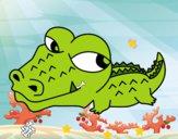 Desenho Crocodilo pequeno pintado por pepe2002