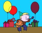 Desenho Festa de aniversário pintado por Helinha10