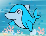Desenho Golfinho-comum pintado por pepe2002