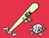 Taco de beisebol, perseguindo uma bola