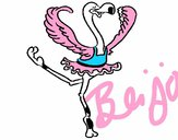 Avestruz em ballet