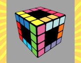 Desenho Cubo de Rubik pintado por marilurdes