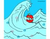 Desenho Grande onda pintado por marilurdes