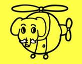 Helicóptero com elefante