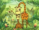Desenho Mamã girafa pintado por marilurdes