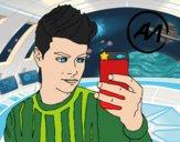 Desenho Abraham Mateo selfie pintado por lequinha
