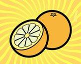 Desenho As laranjas pintado por luzinda