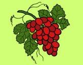 Desenho Cacho de uvas pintado por marilurdes