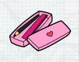 Desenho Caixa com lápis e régua pintado por Margarida-