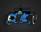 Desenho Carro de F1 pintado por Kenn