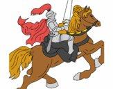 Desenho Cavaleiro a cavalo pintado por wandersong