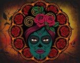 Desenho Caveira mexicana feminina pintado por Leidy