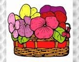 Desenho Cesta de flores 12 pintado por sonhadora
