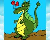 Desenho Dragão  1 pintado por marilurdes