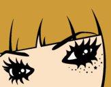 Desenho Emo olhos pintado por Juno