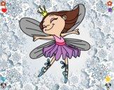 Desenho Fada com alas pintado por sonhadora