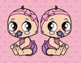 Desenho Gêmeos fêmea pintado por sonhadora