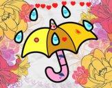 Guarda-chuva aberto