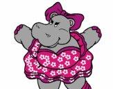 Hipopótamo com laço