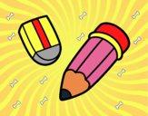 Lápis e borracha