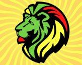 Desenho Leão tribal pintado por wandersong