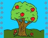 Desenho Macieira  pintado por marilurdes