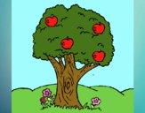 Desenho Macieira  pintado por sonhadora