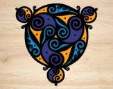 Desenho Mandala com três pontos pintado por Ita51
