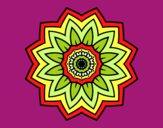 Mandala flores de girassol