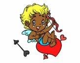 Desenho Menino Cupido pintado por luzinda